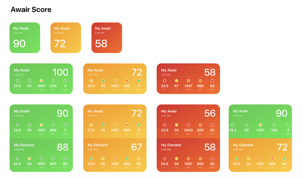Awair Home App iOS 14 Awair Score Widgets-1