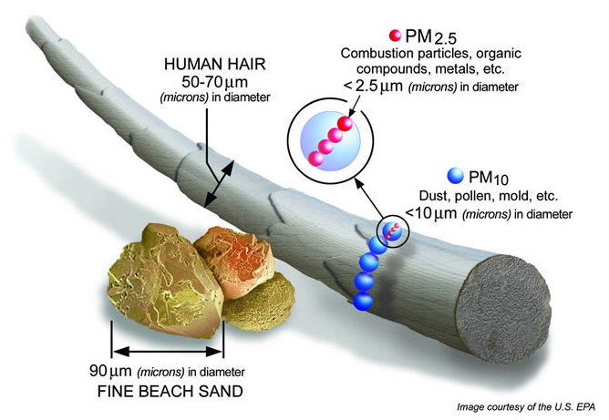 How Big is Particulate Matter 2.5